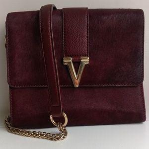 Vince Camuto Burgundy Cowhide shoulder bag